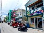 Cute San Pedro town is just a quick bike, golf cart, or cab ride away! (Or 40-60+ min beachwalk)