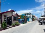 Cute San Pedro town is just a quick bike, golf cart, or cab ride away! (Or 40-60+ min beachwalk)