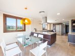 Fully-equipped kitchen with all modern high-end appliances