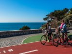 Free bicycle from Cascais Council by the Seafront - off street bicycle track (5 min walk)