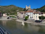 Ther medieval village of Dolceacqua, 9 kilometers from Ventimiglia
