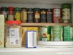 Spices and basic cooking supplies on hand to make your packing easy:)