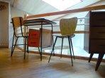 La Ponne, petit bureau, clin d'œil vintage