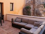 Furnished, outdoor, private terrace
