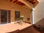 covered terrace w/ceiling fan (not shown)