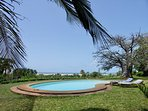 Swimming pool with wonderful view over the Indian Ocean