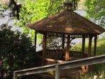 gazebo- just one of the many meditation/sitting areas