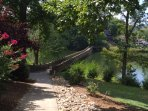 walking bridge on walking path - this is one of my favorite places on the property- Lillian