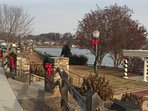Christmas along the rose walk
