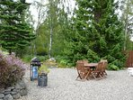 Spacious BBQ area. Large ¾ acre woodland garden with good privacy & great outdoor facilities.