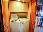 Upper unit - Lower level hall closet with washer/dryer
