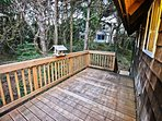 Large upper wrap around deck with stairs leading to large lower deck