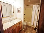 Upper level hall bathroom with tub/shower combo