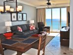 Living Room Gulf Dunes 612 Fort Walton Beach Okaloosa Island Vacation Rentals