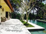 Stone pool terrace