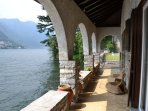 Lake view porch terrace