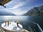 Breathtaking lake view terrace