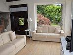 Garden view living room
