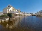 Walk on the water - Water all around this resort Complex!