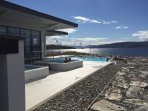 View of infinity pool at the Portavadie Marina Spa - Recommend a visit