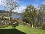 front garden looking towards Tighnabruaich