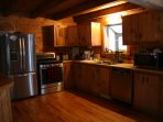 Huge kitchen stocked with everything you could possibly need for great meals!