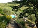 View over the swimming pool of Agriturismo Le Capanne