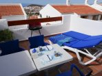 Sun beds, table and chairs etc