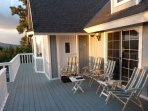 Sit and sip a lovely beverage with your family on the large front deck.