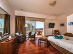 The bedrooms of the Bello Blu Luxury Villa are the ultimate haven of serenity