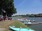 Lago Apremont, sport acquatici, noleggio imbarcazioni, pedalò ....