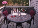 Enjoy a Refreshing Drink on the Deck by the Woods