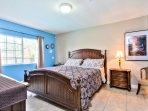 Holgate House at Anaheim Disneyland Vacation Rental Master bedroom w King Bed
