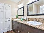 Holgate House at Anaheim Disneyland Vacation Rental Master bath with shower