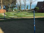 Mini golf and children's playpark with a sea view