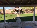 Back Sliding Door to Backyard Patio, Gazebo & Pergola