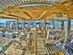 Fuego beach bar in Acharavi