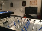 FULLY REFURBISHED GAMES ROOM, Football table 56' TV with Playstaion + Large TV with New XBox