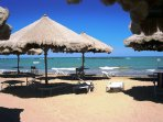 Swim in the clear turquoise water at Pescara.....