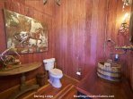 Another view of the guest bathroom at Sterling Lodge.