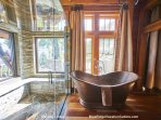 Classic copper tub at Sterling Lodge.