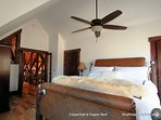 Another view of the second upstairs king bed at Copperleaf at Eagles Nest.