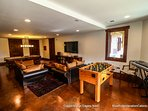 For indoor fun, the lower level of the home features a pool table, foosball and 65' flat screen with surround sound and...