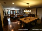 Another view of the game room at Copperleaf at Eagles Nest.