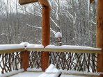 Another snowy view from the deck at Copperleaf at Eagles Nest.