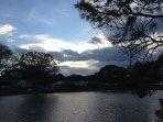 Sunsets over Cedar Lake.