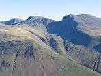 Scafell massif from Yewbarrow