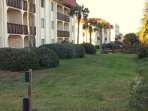 Corner ground floor unit  - your own backyard, and just steps to the gated beach boardwalk