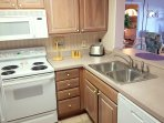 Fully equipped kitchen with easy pass through to dining area