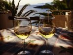 Some wine just before the Sunset!